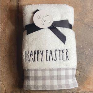 Rae Dunn HAPPY EASTER Hand Towel Set